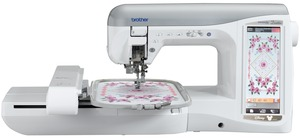 "Brother, Trade In NV4500D, Duetta, babylock ellegante blg2, babylock ellegante 2, ellegante blg2,  ellegante, Brother, NV4500D, Duetta, 576 Stitch, Sewing, & 7x12"" Embroidery Machine, 134 Disney Designs, Electronic Needle Threader, 2 USB, Memory Stick & Card Ports, Brother NV4500D Duetta, Free PED Next & BES, 576Stitch Sewing 7x12Embroidery 300Design 134Disney ElectronicThreader, 1000CD USBstick Edit Format Color"