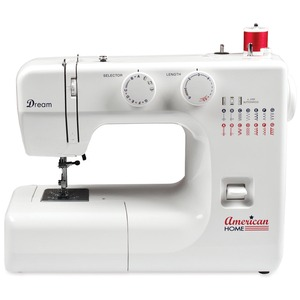 American, Home, AH700, Sewing, Machine, 15, Built-in, Stitches, 4-Step, BH, Accessory, Storage, Foot, control, Free, Arm, AH700, 15, Stitch, Mechanical, Button, hole, Metal, Casting, Bobbin, Case, 72, Power, Cord, 3, Feet, 14, Lb, Handle