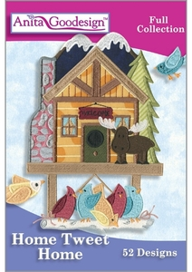 Anita Goodesign 208AGHD Home Tweet Home Multi-format Embroidery Design Pack on CD