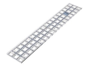 "Grace TrueCut TCR3X18"" Ruler, Angles and Guide Track for Rotary Cutters"