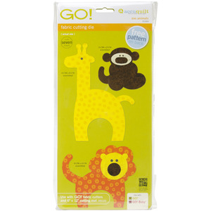 AccuQuilt Go! 55369 GO! Zoo Animals Die - Monkey, Lion, Giraffe Shapes