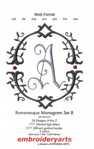 Embroideryarts Romanesque Monagram Set 8 Embroidery Multi-Formatted CD