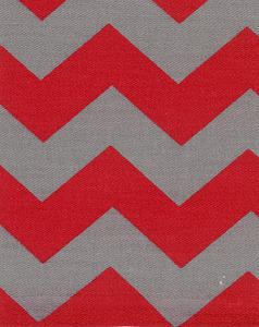 Fabric Finders 15 Yd Bolt 9.33 A Yd Twill 1304 Red/Grey Gray Chevron 100% Pima Cotton Fabric 60 inch