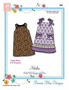 Bonnie Blue BBDP150 Natalie Sundress Sewing Pattern Sizes 6-10yrs