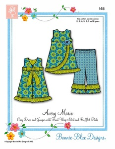 Bonnie Blue BBDP148 Avery Marie Sewing Pattern, Sizes 2-8yrs