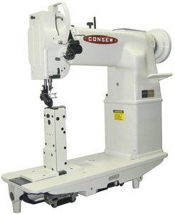 """39886: Consew MA228R-11-1, 7"""" Post Bed Lockstitch Industrial Sewing Machine, T Stand"""