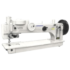39913: Consew 366-30 Heavy Duty Straight Stitch, 12mm Zig-Zag, 20mm Foot Lift, Long-Arm Sewing Machine, Unassembled Stand, DYx3 Needles