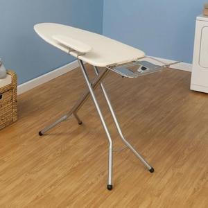 "Household Essentials 971840 Ironing Board 18x49"" plus Sleeve Board, Hot Iron Rest, Garment Hanger"
