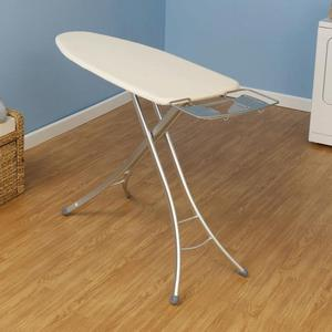 In Stock Household Essentials Ironing Board Economy 28mm T Leg, White finish, Ens. 100% cotton cover Chervil Green,  w/3mm fiber pad