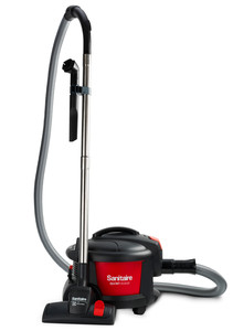 "Sanitaire SC3700 Commercial Bagged Canister Vacuum Cleaner 11""Path, 9A 1000W, 1GalBag 8'Hose 32'Cord 119CFM 68bB 14Lb Crevice Brush Carpet Floor Tools"