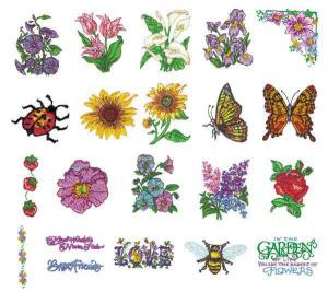 Amazing Designs Sensational Series PSX1 Rubber Stamps Collection 1 Embroidery Disk