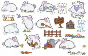 Amazing Designs Sensational Series Plush Pals Bunnies Collection 1 Embroidery Card