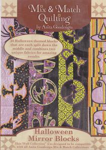 Anita Goodesign 195AGHD Halloween Mirror Blocks Large Designs Multi-format Embroidery Design Pack on
