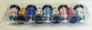40299: Ozeki Brother MTKP Japan UltRapos 9 Cones 880Yd Radiant Solod Metallic Embroidery Thread Kit 1