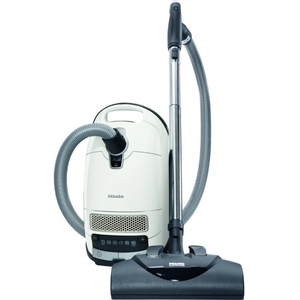 Miele Complete C3 Cat & Dog Canister Vacuum Cleaner Lotus White, 7 Year Motor Warranty