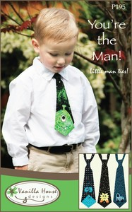 Vanilla House P195 You're The Man Little Man Ties