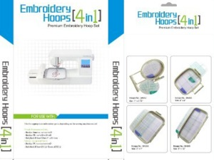 Sew Tech 4in1-A Hoops 2X1/SA442 4X4/SA443 5x7/SA444 5X12/SA445 for Brother PE770 PE800+