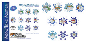 Dakota Collectibles 970502 Snowflake Scenes  Designs 4X4  Multi-Formatted CD