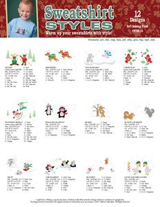 Dakota Collectibles 970514 Sweat Shirt Styles 12 Designs 5X7 Designs CD