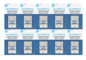 Schmetz 130/705H Universal Point Needles 50 Pack Size 12/80 for All Fabrics, Knits and Wovens