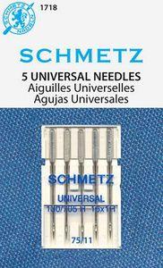 40500: Schmetz S-1718 Universal Point Sewing Machine Needles 5-pk sz11/75