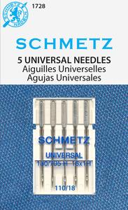 40503: Schmetz s-1728 Universal Needles 5pk sz18/110