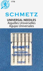40504: Schmetz S-1778 Universal Needles 5pk sz16/100