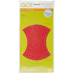 "APPLE CORE-Go! Fabric Die, AccuQuilt GO! 55036 Apple Core 6-1/4"" Finish Fabric Cutting Die Board"