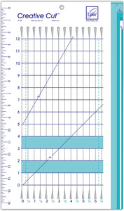 June Tailor Creative Cut Multipurpose Craft Ruler  45 and 60 degree angles for triangles and diamonds