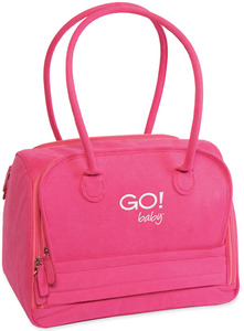 AccuQuilt GO! 55301 Baby Bag Hot Pink Faux Suede Exterior Pistachio Green Interior Carrying Tote Bag for the Accuquilt Go! Baby