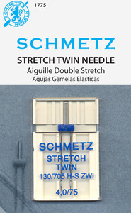 62067: Schmetz S-1775 Stretch Twin 4.0/75 Double Needles