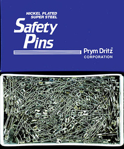 Dritz P5121 Nickle Plated Steel Safety Pins Size2, 1440Count
