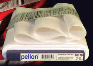 "Pellon PP931TD Fusible Interfacing WHITE 20"" Inches x 25yds Yards Bolt"