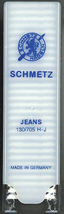 Schmetz 130/705H-J  150 Denim Jeans Stiff Shaft Sewing Machine Needles, Choose One Size 10 to 18, Universal Point