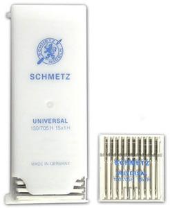 40603: Schmetz 300 Universal Point Sewing Machine Needles 130/705H 15x1 Size 9-16