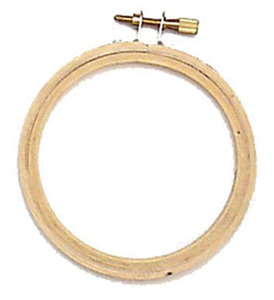 "Brewer E3 3"" Wood Embroidery Hoop Frame for Free Hand or Free Motion"