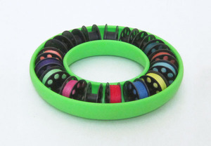 Blue Feather BF703 Bobbin Saver Ring Green, For up to Class M Big Bobbins