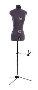 "Dritz TwinFit 1752P Adjustable Dress Form Petite, Hem Gauge, Bust 30-36"""