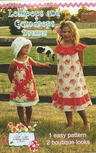 Lilac Lane Patterns LL207 Lollipops and Gumdrops Dresses sz 2T to 10yrs