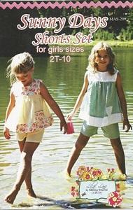 Lilac Lane Patterns LL209 Sunny Days Shorts Set sz 2T-10yrs