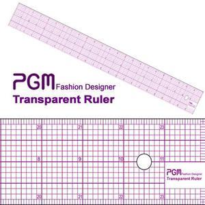 "PGM Pro 808A-A 24"" Pattern Grading Full Grid Transparent Ruler 24Lx2""W"
