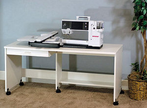 Fashion Cabinets of America 810 Sewing Table Class and Display Table in White