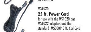 Oreck MS2448-OC Scrubber Accessory MS1025 12V DC 25' Cord
