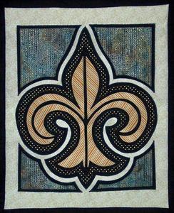 "Another By Anita ABA10009 Fleur-De-Lis Applique Pattern 17"" x 20"""