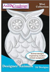 40685: Anita Goodesign 135MAGHD Designer Animals Embroidery Designs CD Mini Collection