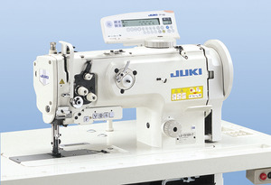 Juki LU-1510N-7, Walking Foot, Needle Feed, Industrial Sewing, Machine & Stand, DC Servo Motor, Auto Backtack, Foot Lift, Thread Trim, Needle Position