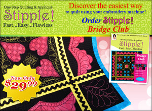DIME STP0110 Stipple! Bridge Club, 21 1-Step Quilting and Applique CD