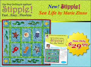 Designs in Machine Embroidery STP0090 Stipple! Sea Life 5X7 and 6X10 Multi Format Embroidery Design CD, 14 Designs with Instructions