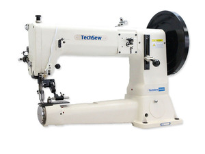"41385: Techsew 5100SE 16.5"" Cylinder Bed Leather Stitcher Machine and Space Saver Pedestal Stand"