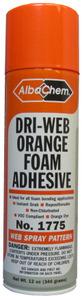 Albatross AlbaChem 1775 Orange Dri-Web Foam Adhesive Spray 6 Pack 12oz Cans